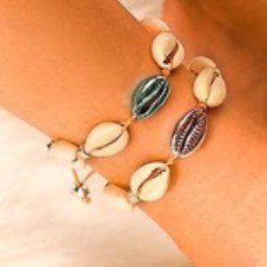 Shell Plating Alloy Ankle Bracelet (1)